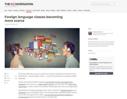 conversation article page scarce