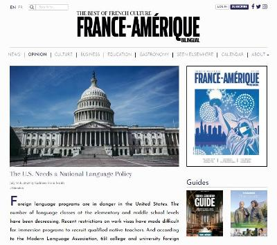France Amerique OpEd