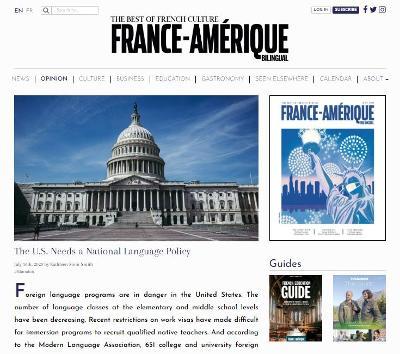 France Amerique OpEd
